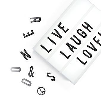 A4 Lightbox Lightbox z 100 literemotikony i symbole - Dostosuj własne wiadomości Cinema Design z baterii lub usb