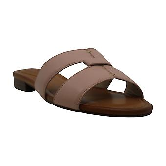 Enzo Angiolini Womens en-genise2 Leather Open Toe Casual Slide Sandals