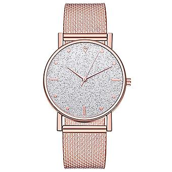 Luksus Kvarts armbånd rustfrit stål Dial Casual armbånd Watch