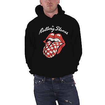 Rolling Stones Mens hettegenser Black Classic Red tungen bandets logo offisielle