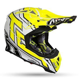 Airoh Aviator 2 2 Cairoli 019 Motorcycle Helmet Replacement Peak Yellow