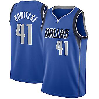 Dallas Mavericks Nr.41 Nowitzki Loose Baschet Jersey Tricouri Sport 3QY040