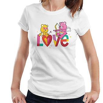 Gli orsi della cura sbloccano la t-shirt da donna Magic Valentines Love Arrows