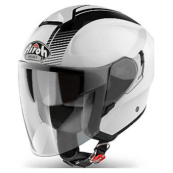 Airoh Helmet Hunter Jet - Simple Gloss Blanc