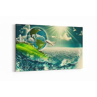 Schilderij - Abstracte achtergronden — 90x60cm