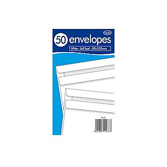 County Stationery Self Seal Envelope (Pack of 50)