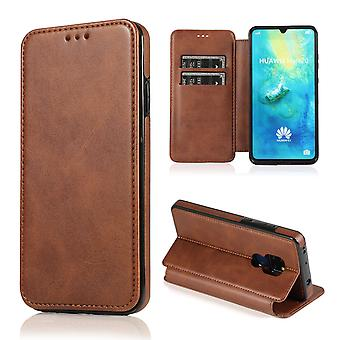 H-basics mobile phone case for Huawei Mate 20 case case cover – magnetic clasp, stand function and card compartment