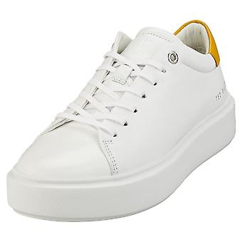 Ted Baker Yinka Womens Casual Trainers in White Yellow