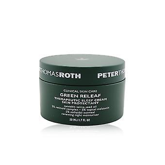 Protetor da pele do creme de sono terapêutico releaf verde renovando hidratante noturno (data exp.: 07/2021) 259415 50ml /1.7oz