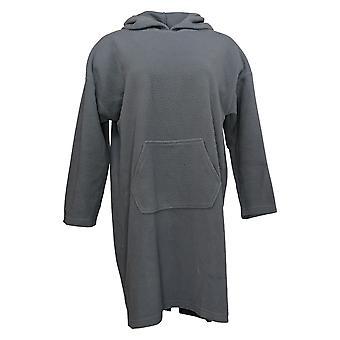 Koolaburra By UGG Women's Hoodie Sueded Jersey Sherpa Lounger Gray A386510