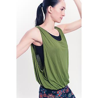 Wonder Support Yoga Tank Top, Purple/Olive