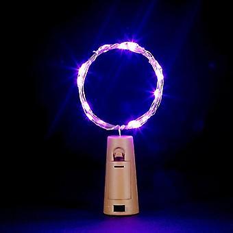 Lanka keiju Garland pullontulppa led string valot käsityötä