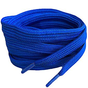 Королевский синий плоский тренер Шнурки кружева