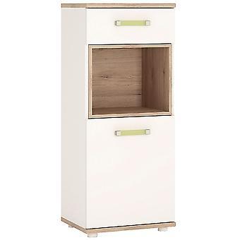 Kiddie 1 Door 1 Drawer Narrow Cabinet Lemon Les