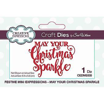 Expressões Criativas Artesanato Morre - Mini Expressões Festivas - Que seu brilho de Natal