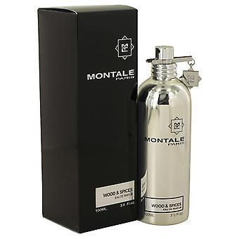 Montale Wood & Spices Eau De Parfum Spray By Montale 3.4 oz Eau De Parfum Spray
