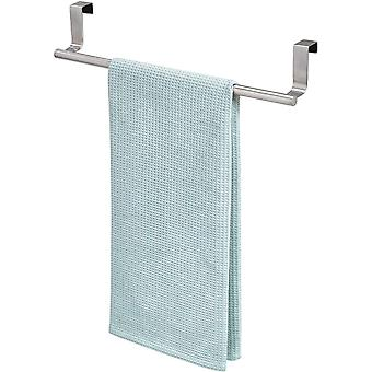iDesign Hand Towel Holder for the Door, Large Stainless Steel Bath Towel Rack with no Drilling
