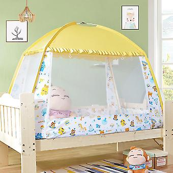 Children's mosquito nets, foldable double doors to prevent mosquito bites, suitable for infants with assembly brackets for easy installation