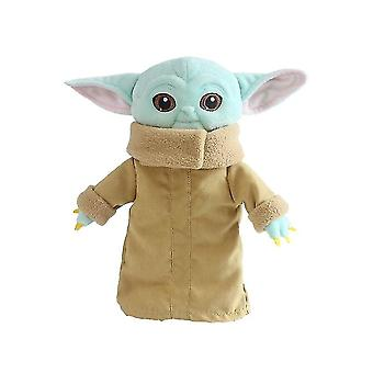 The Mandalorian Force Baby Yoda Plush Doll Wakes Master Toy
