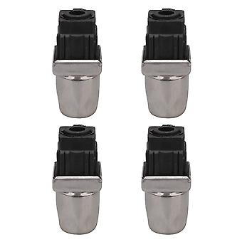 4PCS 75-102mm Adjustable Chair Feet w/ Square Pipe Plug 30x30mm for Home