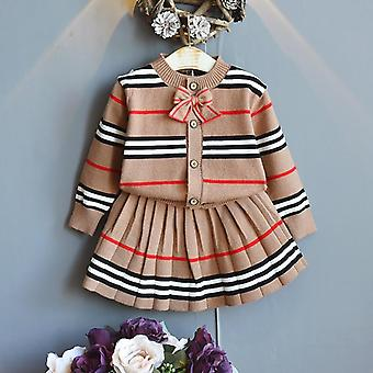 Warm Kids Clothing, Little Knit Stripes Sweater Top & Skirt