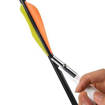 Flecha de tiro con arco, strippe raspador de plumas, quitador de pegamento de veleta de paletas, eje de bricolaje,