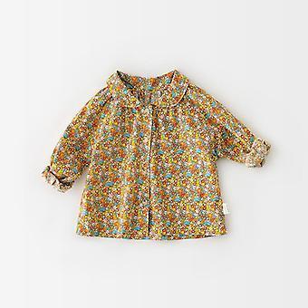 Baby bluse, Spædbarn Floral Toddler Base Shirt, Single Breast Toppe