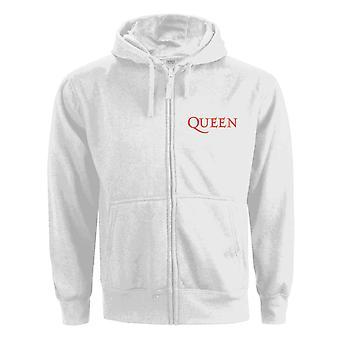 Queen Hoodie Classic Crest Band Logo nye officielle kvinders hvid zippet