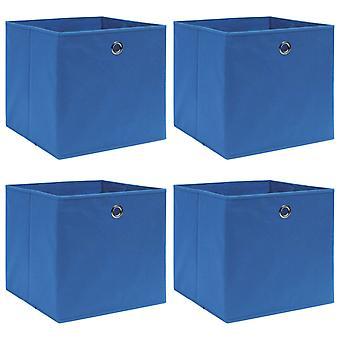 vidaXL Aufbewahrungsboxen 4 Stk. Blau 32×32×32 cm Stoff