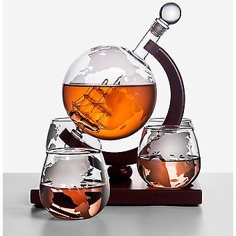 Creative Glass Wine Set Glass Wine Bottle Whisky Glass Red Wine Decanter Home Kitchen Brandy Glass Bar Decoration 2021