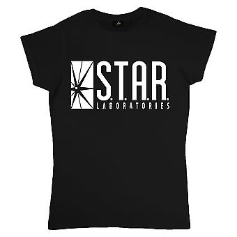The Flash Womens/Ladies Star Labs Fitted T-Shirt