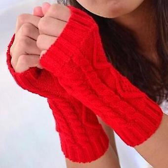 Dlhá jeseň Zimné Dámy Vlna Bez prstov Ženy Rukavice