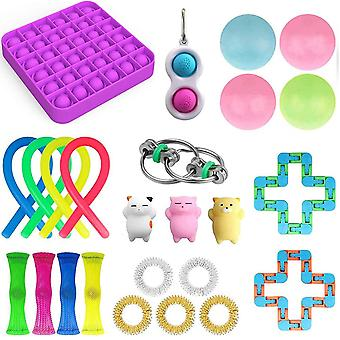 25pcs Pack Fidget Toys Sensory Toy Set Antistress Relief Fidget Toys