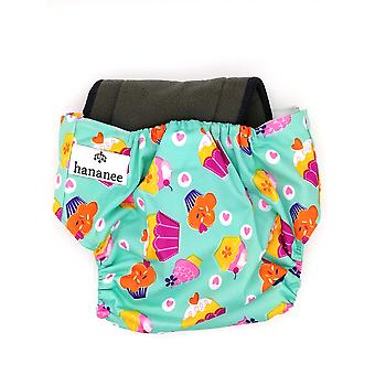 Hananee Baby Cloth Diapers with Bamboo Charcoal Insert Pad All-In-One, Cake