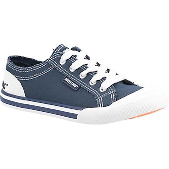 Rocket Hund Jazzin Ladies Bomuld Casual Trainers Navy