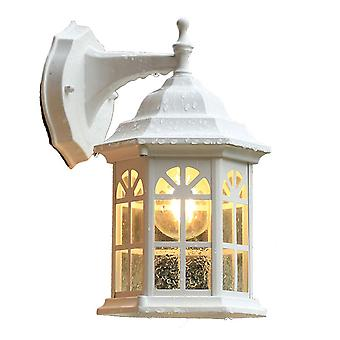 Garden Balcony Wall Lamp E27 Without Bulb Outdoor White