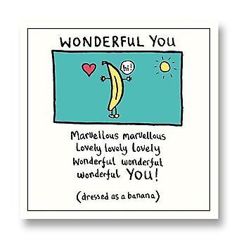 Pigment Edward Monkton - Banana Wonderful You Blank Card Sf815a