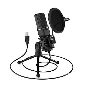 Usb Microphone With Tripod Stand And Pop Filter