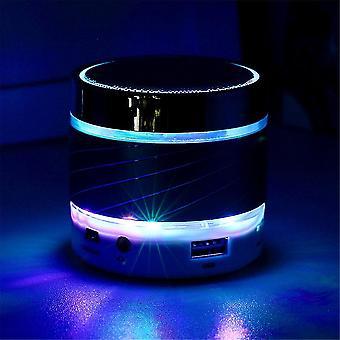 Tragbare Led Mini Wireless Bluetooth Lautsprecher Stereo Bass Mic für Smartphone