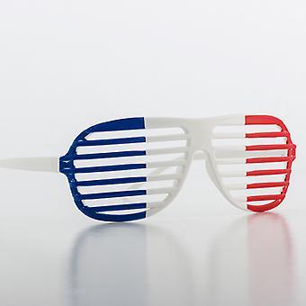 French Flag Shutter Glasses
