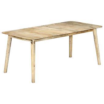 vidaXL طاولة الطعام 180×90×76 سم المانجو الخشب الصلب