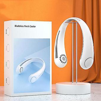 Ventilador de cuello portátil Manos libres Ventilador de cuello sin cuchillas 360 ° Ventilador colgante de enfriamiento USB recargable