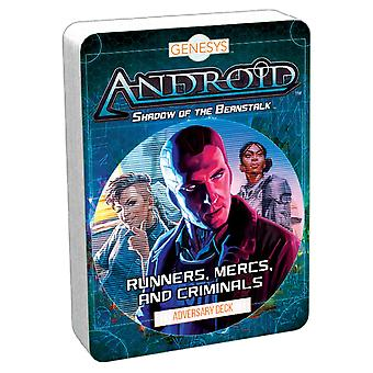 Andriod Genesys Shadow of the Beanstalk RPG - Mercs, and Criminals Adversary Deck