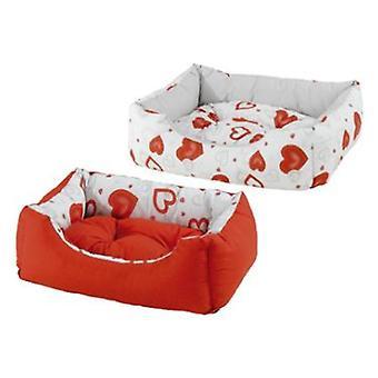 Ferplast Coccolo Röd Hjärtsäng (Hundar, Sängkläder, Sängar)