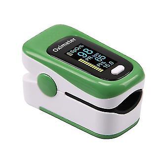 Portable Finger Oximeters Fingertip oximeter Heart Rate Saturometer(Green)