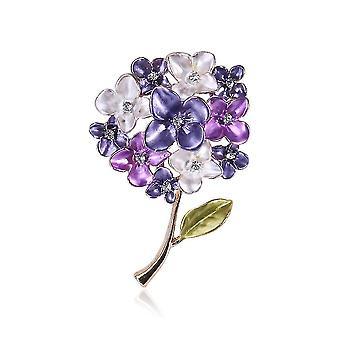 Jemná brož pin květiny corsage diamant vyslovované malované dámské brože