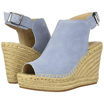Kenneth Cole New York Womens Olivia Suede Peep Toe Casual Ankle Strap Sandals