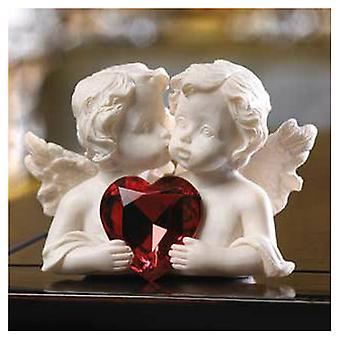 Accent Plus Cherubs Figurine with Heart Gem, Pack of 1