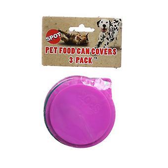 "Spot Petfood Can Covers - 3 Pack - 3.5"" Diameter Lids"