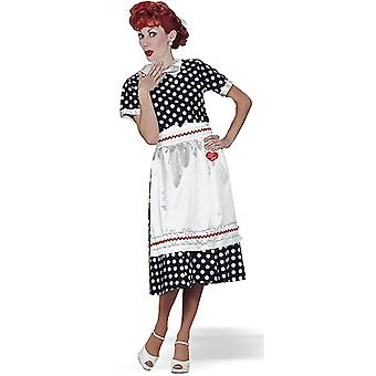 I Love Lucy Polka Dot Dress 1950s Housewife Retro Women Costume